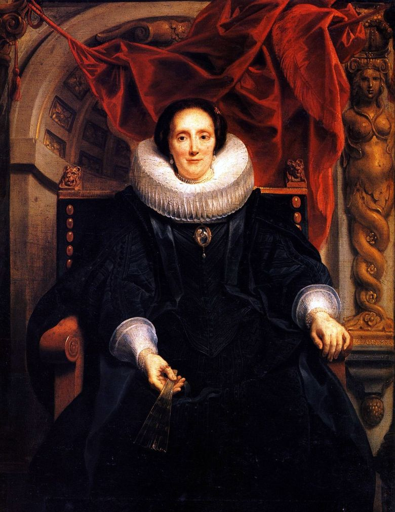 Porträtt av Katharine Behagel   Jacob Jordaens