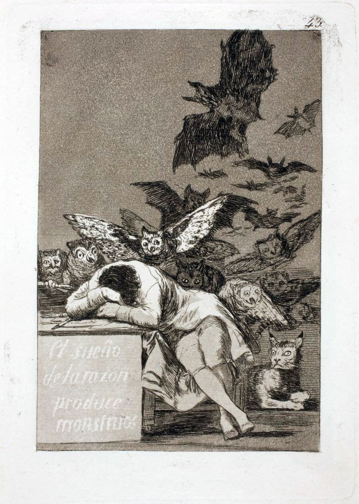 The Sleep of Reason producerar monster   Francisco de Goya