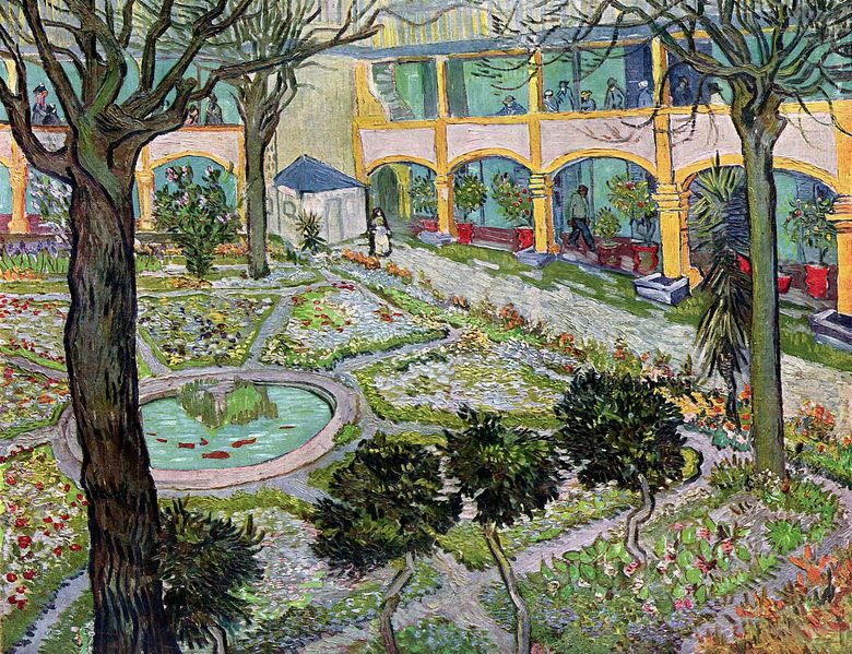 Courtyard Hospital Arly   Vincent Van Gogh