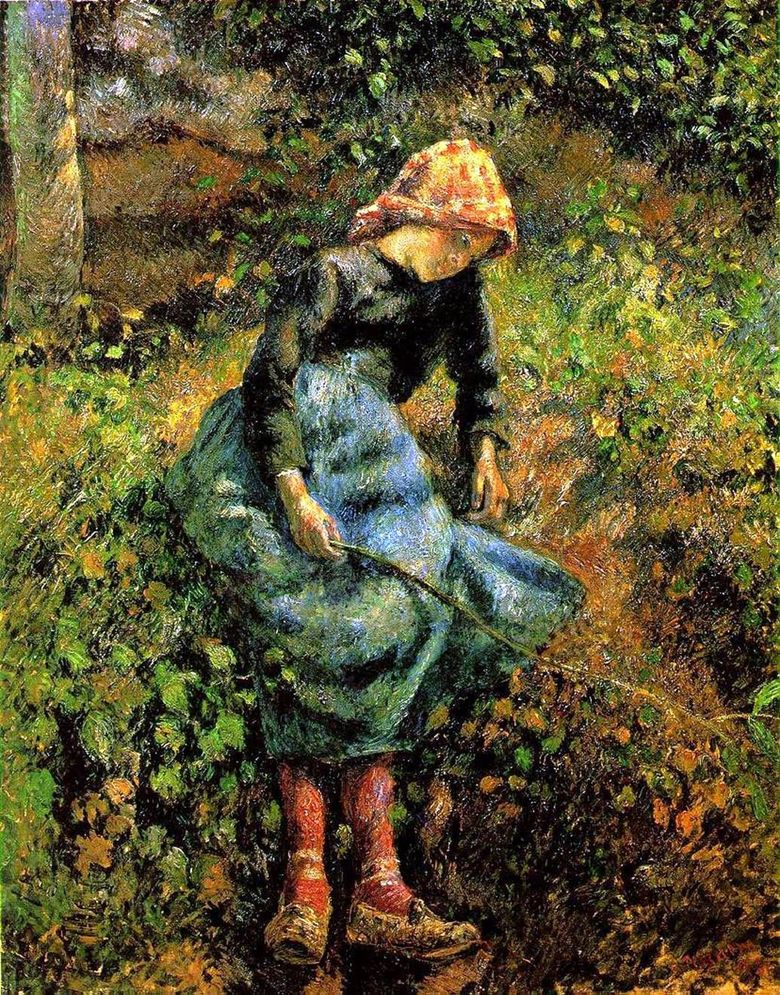 Cowgirl (Girl with a Rod)   Camille Pissarro