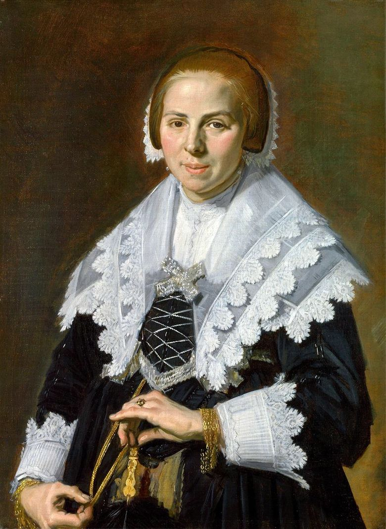 Lady with a Fan   Frans Hals