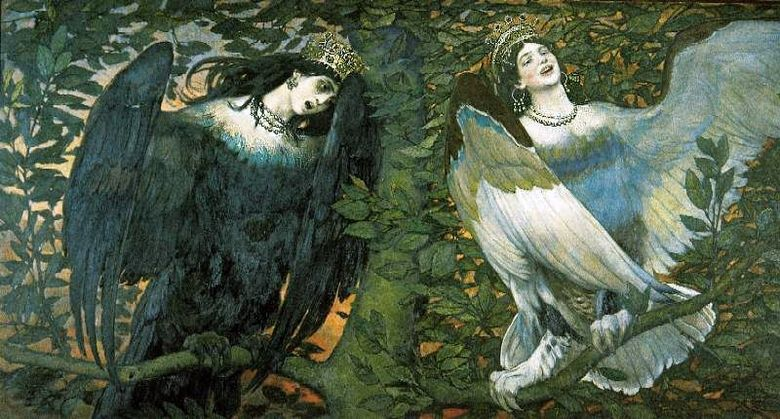 Sirin och Alkonost. Song of Joy and Sorrow   V. M. Vasnetsov