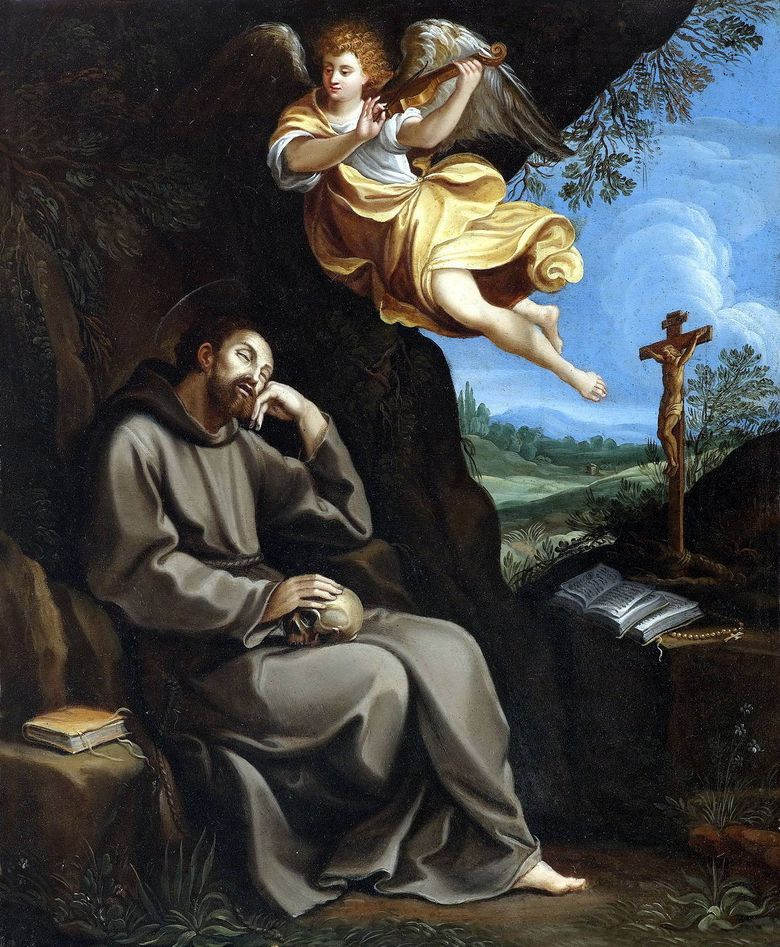Saint Francis and the Angel   Guido Reni