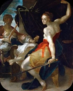 Allegory of Justice   Bartholomeus Spranger