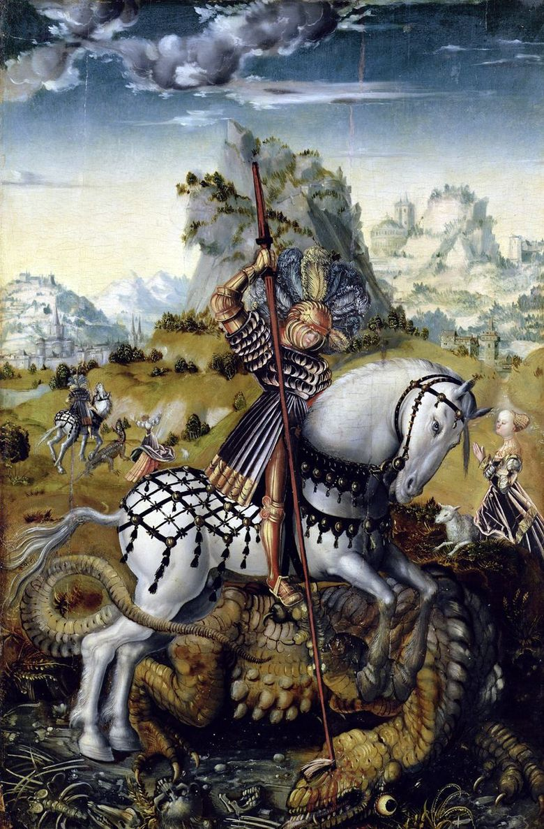 Saint George and the Dragon   Lukas Cranach