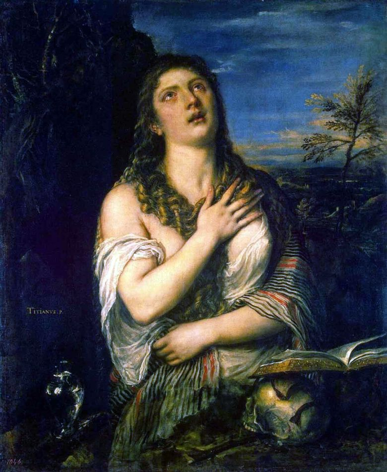 Penitent Mary Magdalene   Titian Vecellio