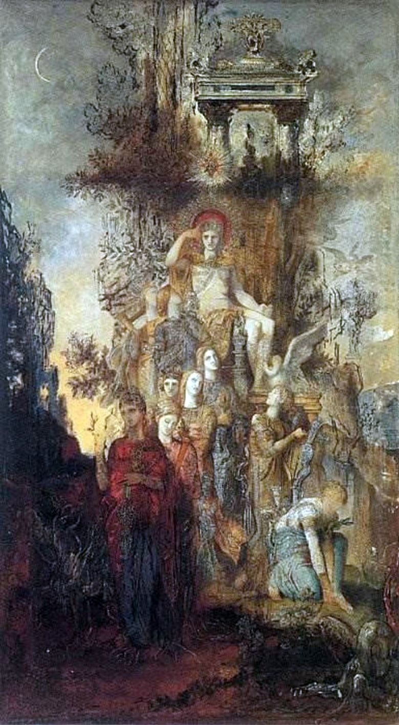 Muse, lämnar sin far Apollo   Gustave Moreau