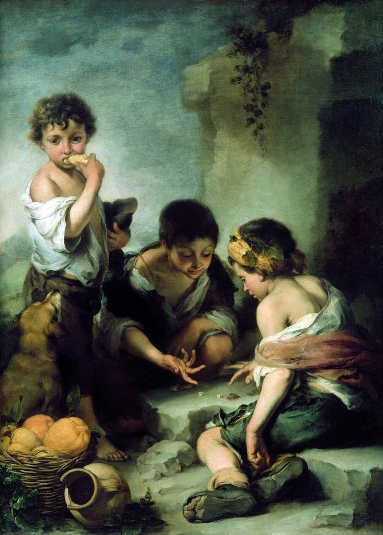 Dice Players (Street Boys)   Bartolome Esteban Murillo